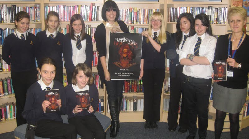 Author and pupils